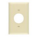 Pass & Seymour TP7-I tradeMaster® Chemical Resistant 1-Gang Single Receptacle Plate; Wall Mount, Nylon, Ivory