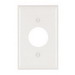 Pass & Seymour TP7-W tradeMaster® Chemical Resistant 1-Gang Single Receptacle Plate; Wall Mount, Nylon, White