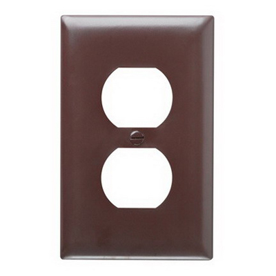 Pass & Seymour TP8 tradeMaster Chemical Resistant 1-Gang Duplex Receptacle Wallplate Wall Mount- Nylon- Brown-