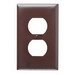 Pass & Seymour TP8 tradeMaster® Chemical Resistant 1-Gang Duplex Receptacle Wallplate; Wall Mount, Nylon, Brown