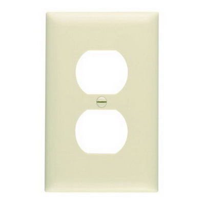 Pass & Seymour TP8-I tradeMaster Chemical Resistant 1-Gang Duplex Receptacle Wallplate Wall Mount- Nylon- Ivory-