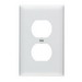 Pass & Seymour TP8-W tradeMaster® Chemical Resistant 1-Gang Duplex Receptacle Wallplate; Wall Mount, Nylon, White