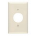 Pass & Seymour TP7-LA tradeMaster® Chemical Resistant 1-Gang Single Receptacle Plate; Wall Mount, Nylon, Light Almond