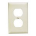 Pass & Seymour TP8-LA tradeMaster® Chemical Resistant 1-Gang Duplex Receptacle Wallplate; Wall Mount, Nylon, Light Almond