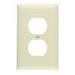 Pass & Seymour TP8-BK tradeMaster® Chemical Resistant 1-Gang Duplex Receptacle Wallplate; Wall Mount, Nylon, Black