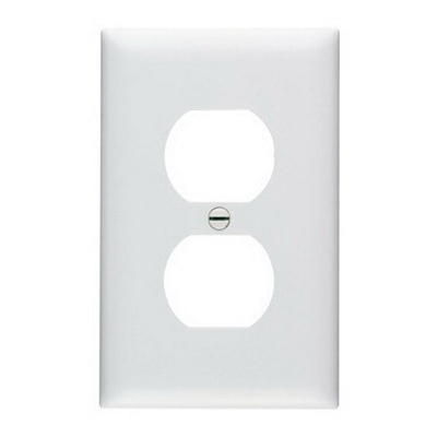 Pass & Seymour TP8-OR tradeMaster Chemical Resistant 1-Gang Duplex Receptacle Wallplate Wall Mount- Nylon- Orange-