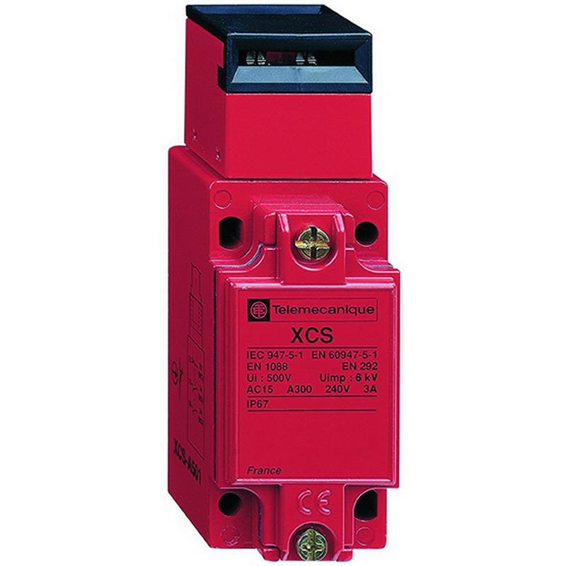 Schneider Electric / Square D XCSA723 Safety Interlock Switch; 3-Pole, 1NC/1NO On Output, 300 Volt AC, 10 Amp, Key Actuator