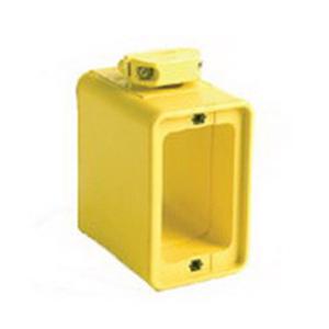 Woodhead / Molex 3005 Super-Safeway® 2 Sided Weatherproof Multiple Outlet Box; Neotex Rubber, Yellow