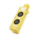 Woodhead / Molex 4052 Watertite® E-Z Grip Single Speed Two Button Pendant Station; 250 Volt, Momentary, NO/NC, Flush Round Actuator, Nylon, Yellow