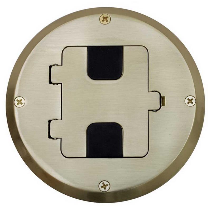 Hubbell Wiring RF515BP homeSELECT NETSELECT® Round Floor Box; Aluminum