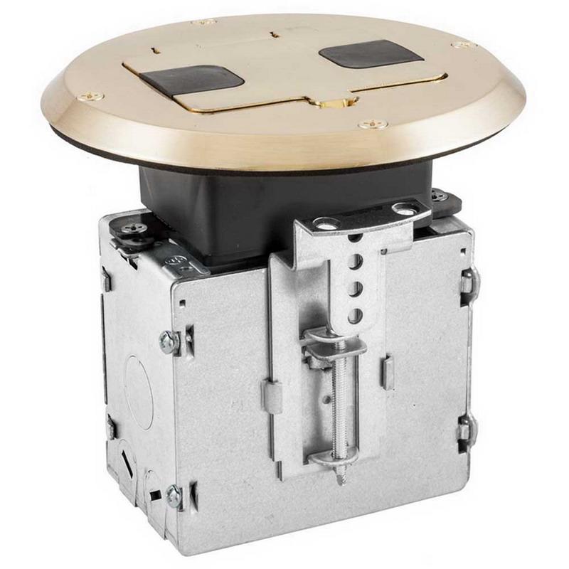 Hubbell Wiring RF515NI homeSELECT NETSELECT® Round Floor Box; Aluminum