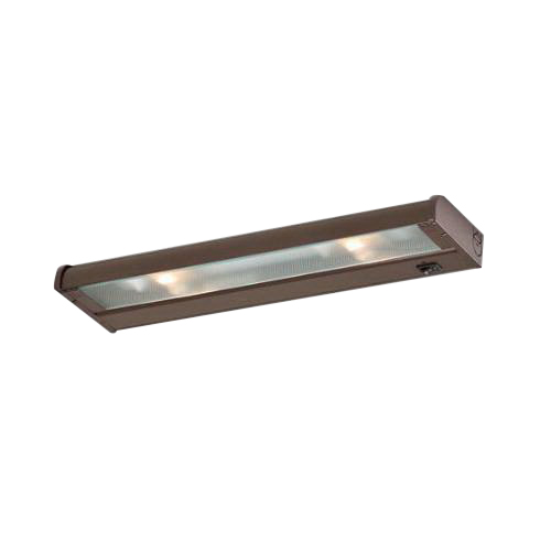 CSL Creative NCA120-16 CounterAttack 2-Light Surface Mount Halogen Under-Cabinet Light Fixture; 70 Watt, 120 Volt, 320 Lumens, Lamp Included