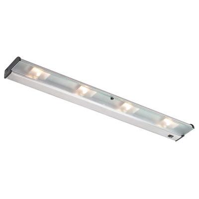 CSL Creative NCA120-32SS CounterAttack 4-Light Surface Mount Halogen Under-Cabinet Light Fixture; 140 Watt, 120 Volt, 320 Lumens, Stainless Steel, Lamp Included