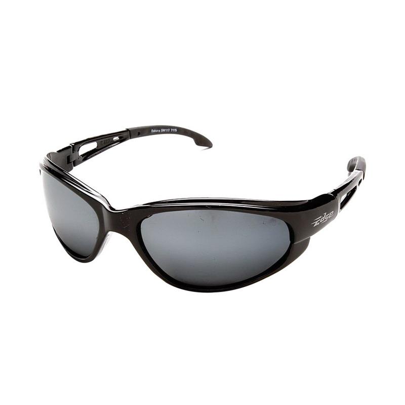 Wolf Peak International SW117 Edge™ Dakura Scratch-Resistant Safety Glasses; Universal, Black Frame, Silver Mirror Lens
