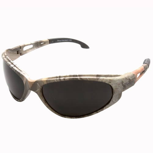 Wolf Peak International SW116CF Edge™ Dakura Scratch-Resistant Safety Glasses; Forest Camouflage Frame, Smoke Lens