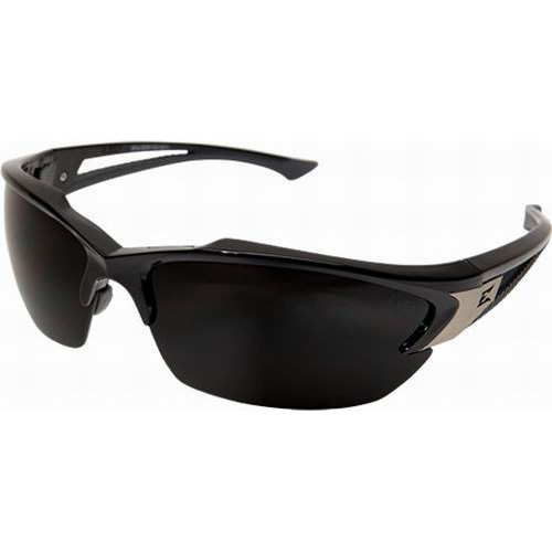 Wolf Peak International TSDK216 Edge™ Khor Polarized Anti-Fog Scratch-Resistant Safety Glasses; Regular, Black Frame, Smoke Lens