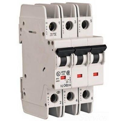 Eaton / Cutler Hammer FAZ-D2/3-NA Miniature Circuit Breaker; 2 Amp, 277/480 Volt AC, 125 Volt DC, 3-Pole, DIN Rail Mount