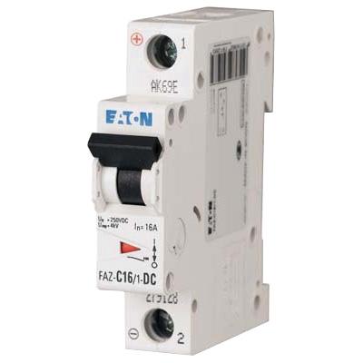 Eaton / Cutler Hammer FAZ-C2/1-NA-SP Miniature Circuit Breaker; 2 Amp, 277/480 Volt AC, 125 Volt DC, 1-Pole, DIN Rail Mount