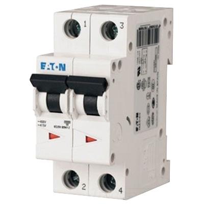 Eaton / Cutler Hammer FAZ-C5/2-NA Miniature Circuit Breaker; 5 Amp, 277/480 Volt AC, 125 Volt DC, 2-Pole, DIN Rail Mount