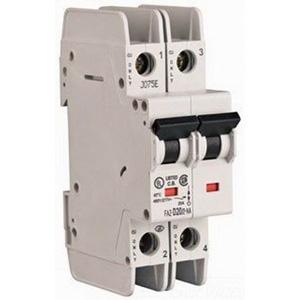 Eaton / Cutler Hammer FAZ-D2/2-NA Miniature Circuit Breaker; 2 Amp, 277/480 Volt AC, 125 Volt DC, 2-Pole, DIN Rail Mount