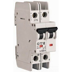 Eaton / Cutler Hammer FAZ-D4/2-NA Miniature Circuit Breaker; 4 Amp, 277/480 Volt AC, 125 Volt DC, 2-Pole, DIN Rail Mount