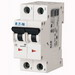 Eaton / Cutler Hammer FAZ-C1/2-NA Miniature Circuit Breaker; 1 Amp, 277/480 Volt AC, 125 Volt DC, 2-Pole, DIN Rail Mount