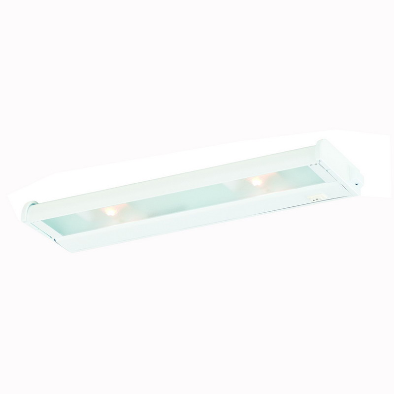Troy NCAX-120-16WT CounterAttack 2-Light Surface Mount Xenon NCA Series Non-Linkable Under-Cabinet Light Fixture; 70 Watt, 120 Volt, 270 Lumens, White, Lamp Included