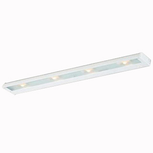 Troy NCAX-120-32WT CounterAttack 4-Light Surface Mount Xenon NCA Series Non-Linkable Under-Cabinet Light Fixture; 140 Watt, 120 Volt, 270 Lumens, White, Lamp Included