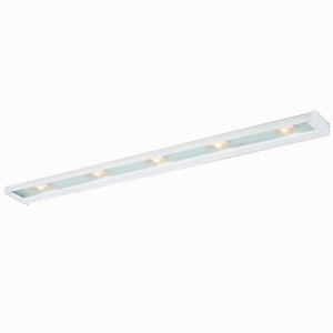 Troy NCAX-120-40WT CounterAttack 5-Light Surface Mount Xenon NCA Series Non-Linkable Under-Cabinet Light Fixture; 175 Watt, 120 Volt, 270 Lumens, White, Lamp Included