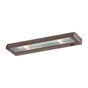 Troy NCAX-120-16BZ CounterAttack 2-Light Surface Mount Xenon NCA Series Non-Linkable Under-Cabinet Light Fixture; 70 Watt, 120 Volt, 270 Lumens, Bronze, Lamp Included