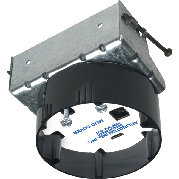 Arlington FB417S Box With Mounting Bracket ; Ceiling Joist Mount, 20 Cubic-Inch, Plastic Box