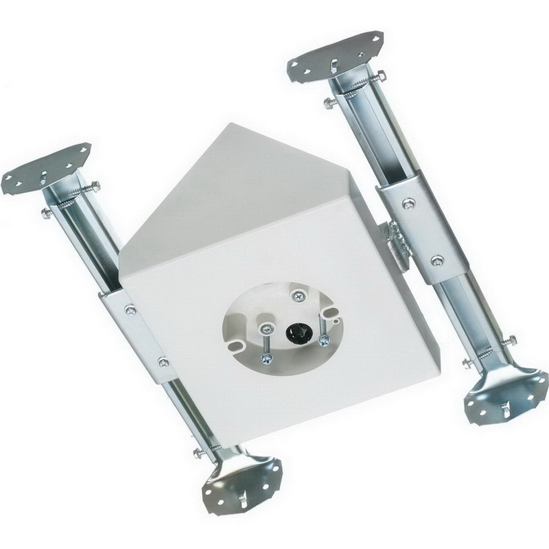 Arlington FBX900 Cathedral Mounting Box With Adjustable Bracket; Ceiling Joist Mount, 14.5 Cubic-Inch, Up to 90 Degree Slope