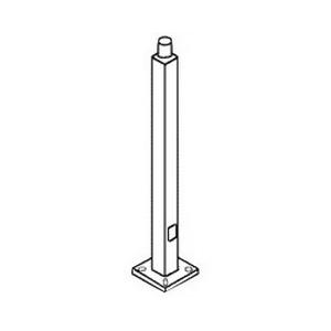 RAB PS4-11-25WT 11 Gauge Tenon Top Pole 25 ft  4 Inch Shaft  Bronze