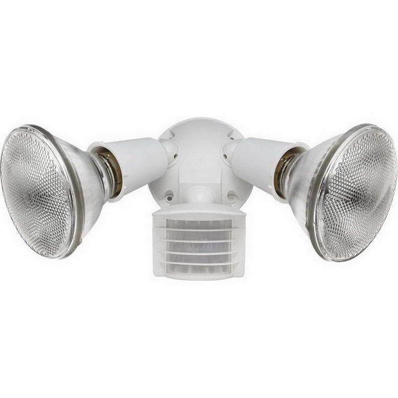 RAB LU300W Luminator® 2-Light Wall Mount Sensor Outdoor Flood Light Kit; 150 Watt, White, 110 Degree Detection