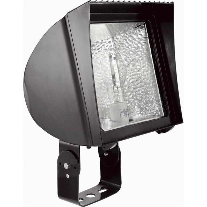 RAB FXH150TPSQ FlexFlood® 1-Light Trunnion Mount FX-Series Metal Halide Flood Light; 150 Watt, 14000 Lumens, Bronze