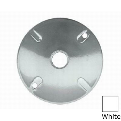 RAB C100W Weatherproof Cover; 1/2 Inch Dia, 4-1/2 Inch, Round, Die-Cast Aluminum, White