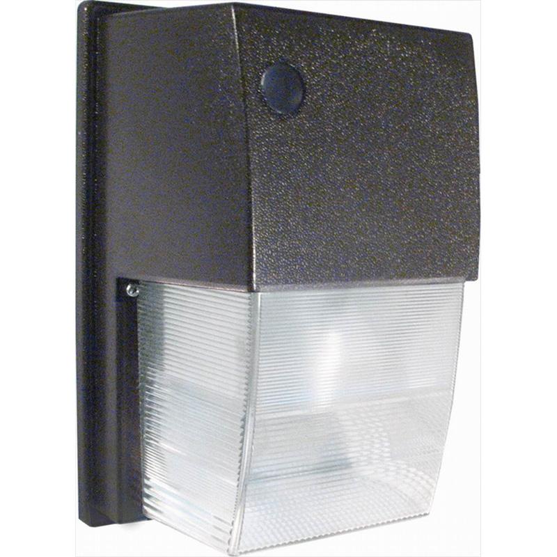 RAB WPTS35 Tallpack High Pressure Sodium Wall Pack; 35 Watt, 2250 Lumens, Bronze, Lamp Included