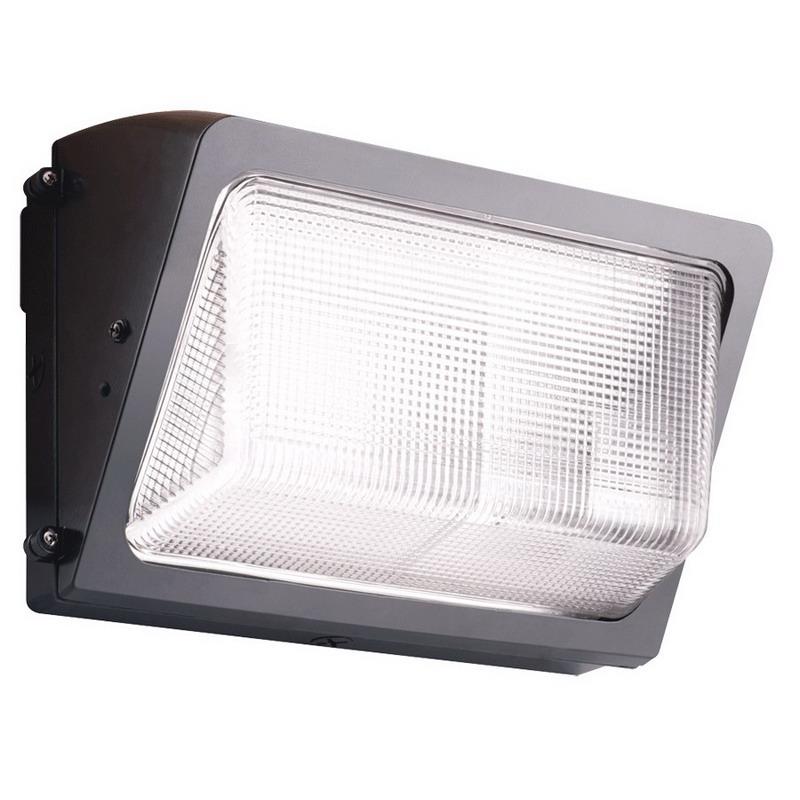 RAB WP2SH100QT/PC 120 Volt Button Photocontrol High Pressure Sodium Wall Pack; 100 Watt, 9500 Lumens, Bronze, Lamp Included