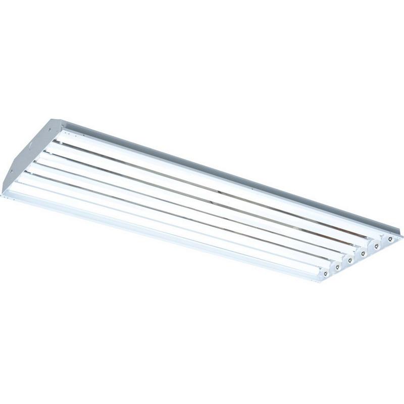 6 Fluorescent Light Fixture: RAB RB6T5 6-Light Ceiling/Surface/Chain Mount Fluorescent