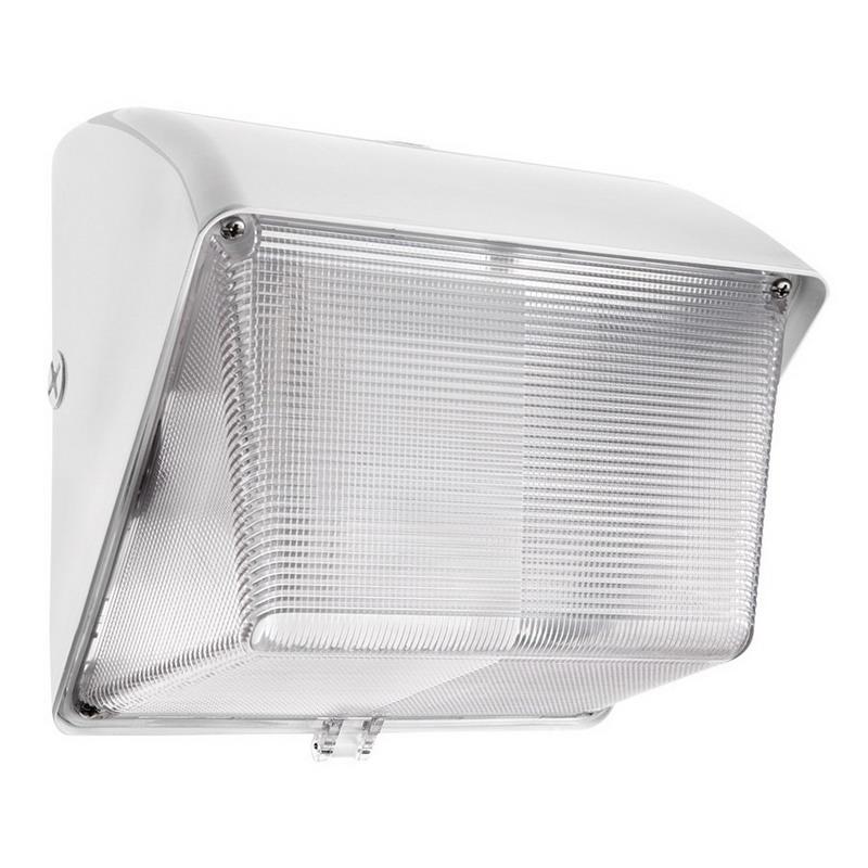 """""""""""RAB WP1H50W Metal Halide HID Wall Pack 50 Watt, 3400 Lumens, White, Lamp Included,"""""""""""" 564258"""