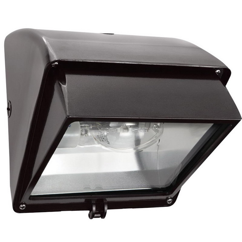 RAB WP1CH70 1-Light Cut-Off Metal Halide HID Wall Pack 70 Watt, 5600 Lumens, Bronze, Lamp Included,""