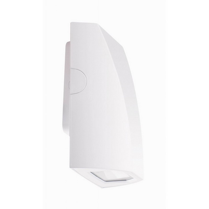 RAB SLIM12YW Slim 12 Bracket Mount Full Cut-Off LED Wall Pack 12 Watt, 1019 Lumens, White,""