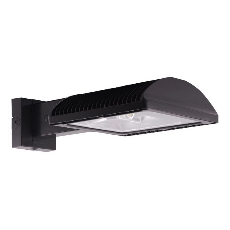 RAB WPLED2T78 6-Light Full Cut-Off LED Wall Pack 78 Watt, 7716 Lumens, Cool Bronze,""