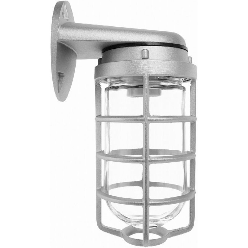 RAB VBR100DG/PRISM 1-Light Wall With Bracket Mount 100 Series Vaporproof Light Fixture With ...