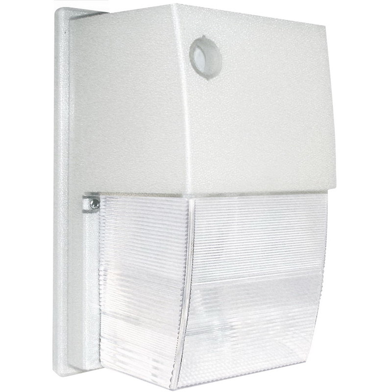"""RAB WPTS70W Tallpack High Pressure Sodium Wall Pack Security Light 70 Watt, 6300 Lumens, White, Lamp Included,"""""""