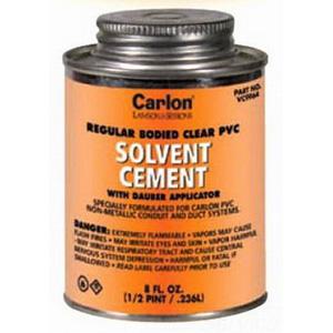 Carlon VC9962 Medium PVC Cement With Dauber Applicator; 32 oz, Clear