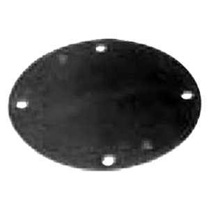 Red Dot S341E Raintight Outlet Blank Cover; 4-1/8 Inch, Round