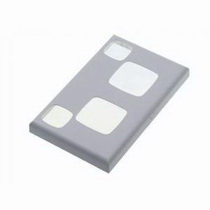 Red Dot 2CCPOX 2-Gang Power Outlet Cover; Silver, Zinc Die-Cast