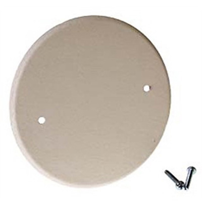 Raco 5653-1 Flat Blank Closure Cover; 5 Inch, Round