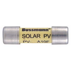 Bussmann PV-15A10F Photovoltaic Fuse 15 Amp  1000 Volt DC  Wall Mount  Ferrule End